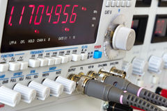 Buttons and connectors of function generator Royalty Free Stock Photos