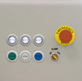 Buttons and controls. Set of buttons and control elements royalty free stock images