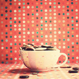 Buttons in a cup Royalty Free Stock Photos