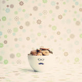 Buttons in a cup stock photography