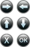Buttons with dark blue a shade for website Royalty Free Stock Photo
