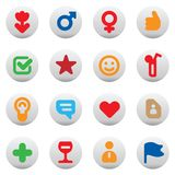 Buttons for dating and love Royalty Free Stock Image