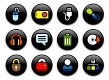 buttons datoren Royaltyfri Fotografi