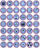 buttons datorkontoret Arkivbilder