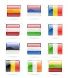 buttons den europeiska flaggan Royaltyfria Bilder