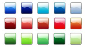 buttons den färgrika glansiga seten Royaltyfri Foto
