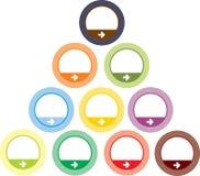 buttons den färgrika rounden Royaltyfri Fotografi