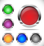 buttons den färgrika rounden Royaltyfria Bilder