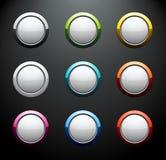 buttons den färgrika roundseten Arkivfoto