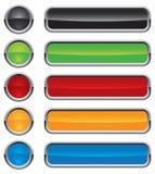 buttons den färgrika vektorn Fotografering för Bildbyråer