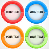 buttons den färgrika seten Arkivfoton