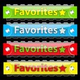 buttons den glansiga etikettsvektorn för favoriter Royaltyfria Bilder