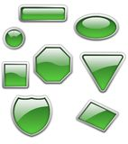 buttons den glansiga seten Arkivfoton