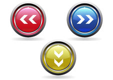buttons den glansiga seten Arkivbild