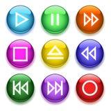 buttons den glansiga spelare Arkivbild