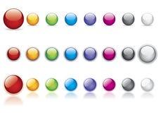 buttons den glansiga vektorn Arkivfoto