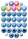 buttons den glass vektorn royaltyfri illustrationer
