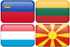 buttons den lic tända macen nl för den europeiska flaggan Royaltyfria Foton