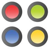buttons den matt enkla vektorn stock illustrationer