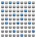 buttons den matt stencilen Arkivfoton