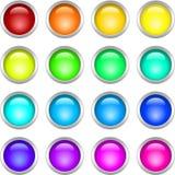 buttons den metalliska rounden Fotografering för Bildbyråer