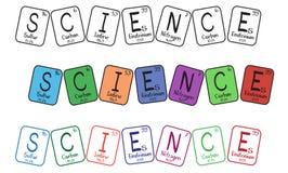 buttons den periodiska vetenskapstabellen för element royaltyfri illustrationer