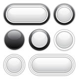 Buttons design elements Royalty Free Stock Photo