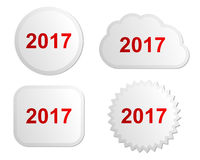 2017 buttons Royalty Free Stock Photos