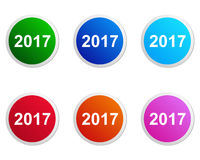 2017 buttons Royalty Free Stock Images