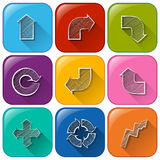 Buttons with different arrows Royalty Free Stock Photo
