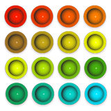 Buttons in different colors. Raster. Raster vector illustration