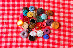 Buttons in Different Colours Royalty Free Stock Photography