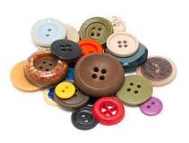 Buttons of different size, shape and color Stock Image