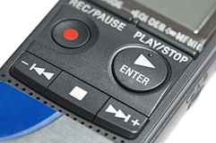 Buttons of digital dictaphone Stock Image