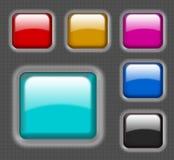 buttons dimensionell glansig website Royaltyfri Fotografi