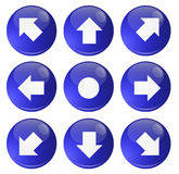 Buttons direction Stock Images