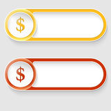 Buttons with dollar sign Royalty Free Stock Photos