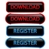 Buttons - download, register Royalty Free Stock Photo