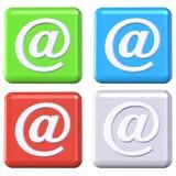buttons e-post royaltyfri illustrationer