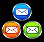 buttons e-postsymbol Fotografering för Bildbyråer