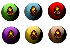 Buttons with easter eggs Royalty Free Stock Image