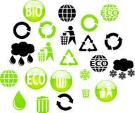 buttons eco Arkivfoton