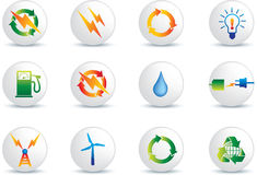 buttons elektrisk symbolsström stock illustrationer