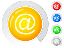 Buttons email Royalty Free Stock Photos