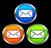 Buttons with email symbol Stock Image