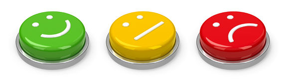 Buttons emotions Royalty Free Stock Image