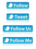 buttons eps-twitteren Royaltyfri Fotografi