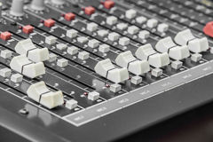 Buttons equipment for sound mixer control Royalty Free Stock Image
