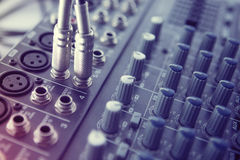 Buttons equipment for sound mixer control Stock Images