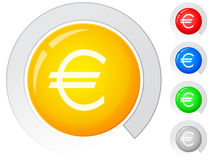 Buttons euro Stock Images